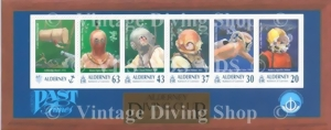 ALDERNEY 1998 DIVING MINIATURE SHEET SGMSA115 UNMOUNTED MINT - Block