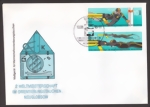 First Day Cover - Diving World Cup in underwater orienteering Neuglobsow 1985 - GDR 2961-2962