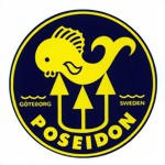 Poseidon - scuba tank decal sticker Aufkleber