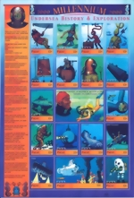 Palau - Undersea History & Exploration - 17 Stamp Sheet - 16D-036 MINT - Block