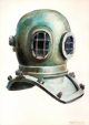 10-bold, Diving Helmet Possibly by F.W. Sadler of London Mid 1800`s