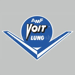 AMF VOIT LUNG - decal sticker Aufkleber- blue, white