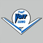 AMF VOIT LUNG - decal sticker Aufkleber - white, blue