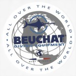 BEUCHAT DIVING EQUIPMENT - scuba tank decal sticker Aufkleber