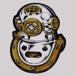 MARK V Helmet Diving - scaphandrier palombaro Helmtauchen plongee decal sticker Aufkleber - New