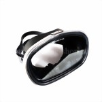 Brand new, diving Mask in traditional vintage-diving style - seven inch oval, black rubber mask. With nose pockets,Tempered Glass.