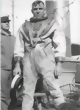 Postcard - US Navy Diver on USS Walk, 1914
