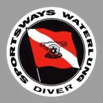 SPORTSWAYS WATERLUNG - Tank decal sticker Aufkleber - Diving plongee scuba Tauchen New