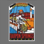 TARPON SPRINGS FLORIDA DIVER-SOUVENIR TRAVEL DECAL STICKER DIVING TAUCHEN New
