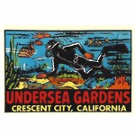 UNDERSEA GARDENS CALIFORNIA SCUBA DIVER TRAVEL DECAL STICKER DIVING New New