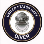 U. S. NAVY DIVER - decal sticker Aufkleber - Diving plongee scuba Tauchen New