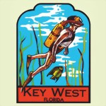 FLORIDA KEYS SCUBA DIVER-SOUVENIR TRAVEL DECAL STICKER DIVING TAUCHEN New